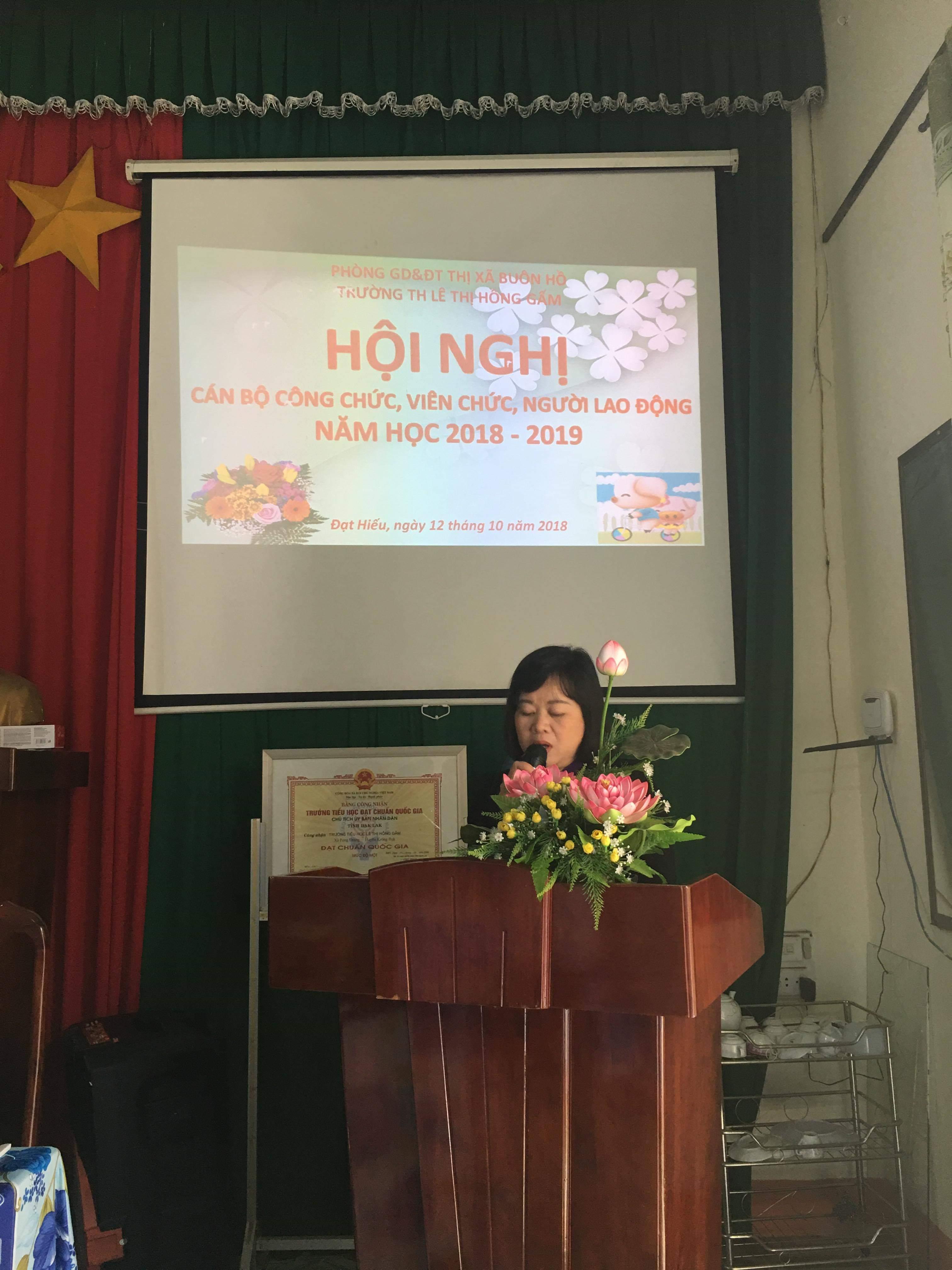 HỘI NGHỊ CÁN BỘ CÔNG CHỨC, VIÊN CHỨC, NGƯỜI LAO ĐỘNG NH 2018 -2019