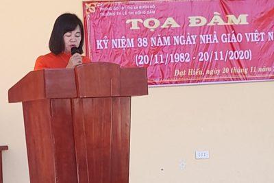 Tọa đàm chào mừng ngày  nhà giáo Việt Nam 20/11