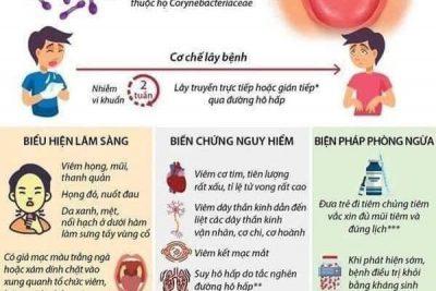 Những điều cần biết về bệnh bạch hầu